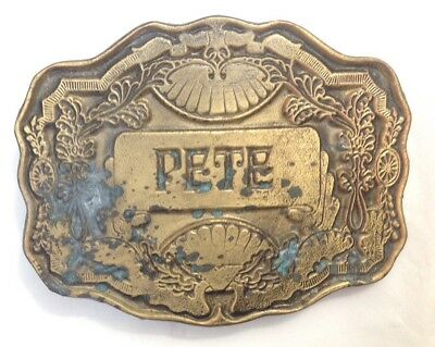 Pete Name  Belt Buckle American Vintage Classic Retro Country Western