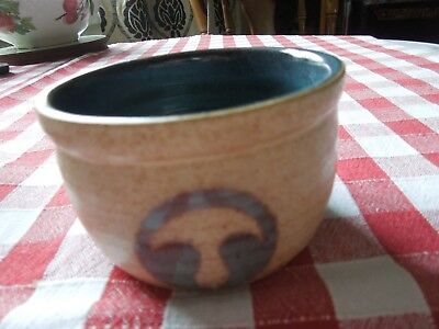Laugharne Pottery. Bowl. Sugar. Welsh Pottery. Studio. Vintage