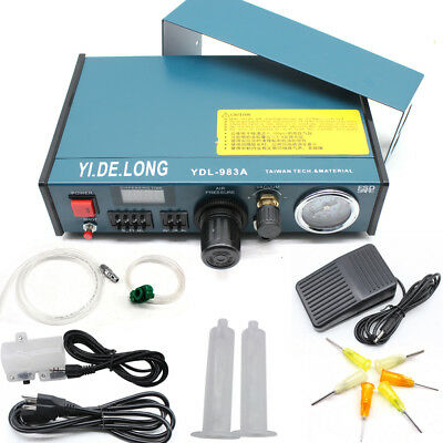 Digital Display Auto Glue Dispenser Solder Paste Liquid Controller Dropper 983A