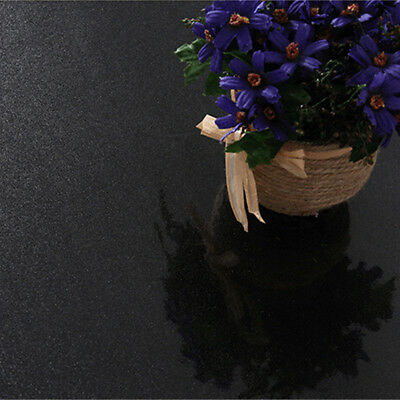 Black Gloss Oil Proof PVC Self Adhesive Contact Paper Kitchen Wall Sticker Decor