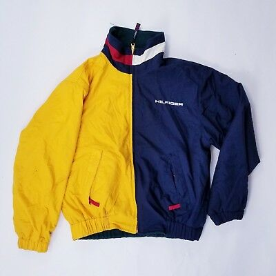 Vintage Tommy Hilfiger reversible yellow navy size S