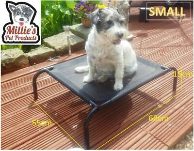 Millies Elevated Dog Pet Bed Portable Waterproof Outdoor Raised Camping Basket