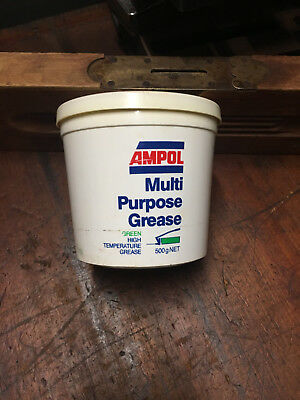 Vintage Ampol Multi Purpose Grease Can 500 Grams