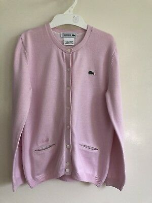 Lacoste Girls Soft Pink Cardigan Sz 8