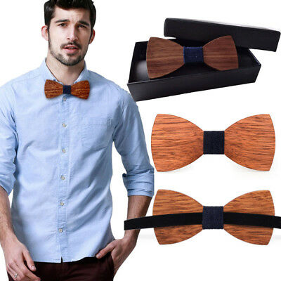 Bow Tie Accessory Wedding Party Bamboo Wood Bowtie Neck Wear for Men mens Wooden