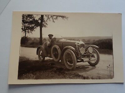 Carte Photo . Voiture De Course Amilcar