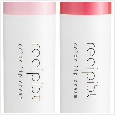 RECIPIST slightly colored lip balm 3.5 Nude pink/Pure red