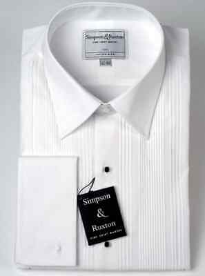 Simpson & Ruxton Pleated Front Dress Shirt