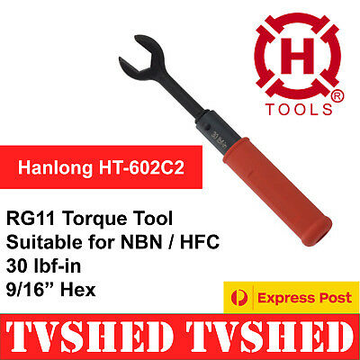RG11 Torque Wrench Tool for HFC NBN Coaxial Cable F Type Connectors