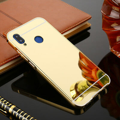 For Huawei P20/ Pro/ Lite, Metal Aluminum Frame Acrylic Mirror Hard Case Cover