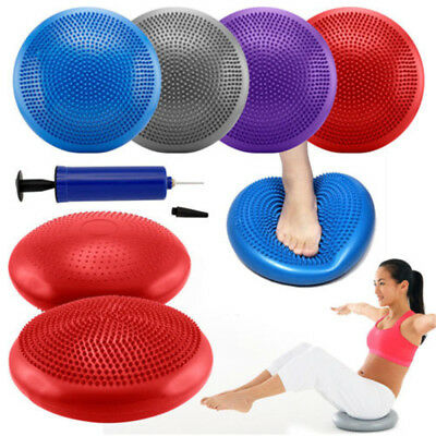 Yoga Balance Board Cushion Stability TV Gym Exercise Fitness Disc Wobble Trainer