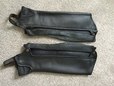 Tredstep delux leather half chaps