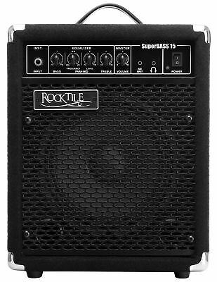 Rocktile Sb-15 Superbass15 Bassamp 15 Watt Bass Verstärker Equalizer Portabel