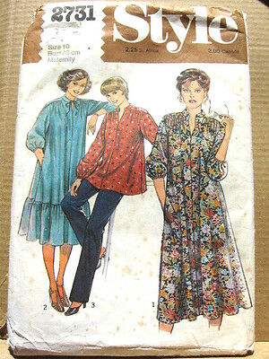 VINTAGE STYLE Maternity Sewing Pattern No 2731 Size 10 Dress Top ...