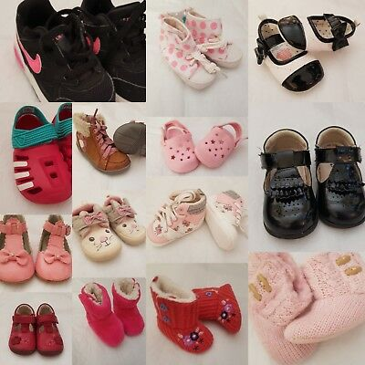 Multi listing of baby girls  toddler boots shoes trainers  nike adidas clarks