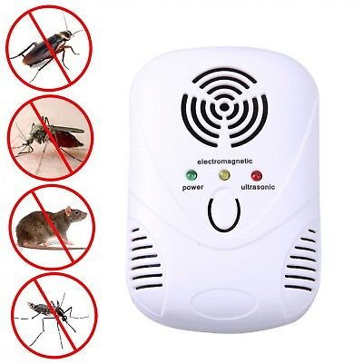 110-250V/6W Electronic Ultrasonic Mouse Killer Mouse Cockroach Trap Mosquito Rep