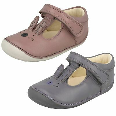 Girls Clarks Hook & Loop First Shoes With Rabbit Design Little Glo