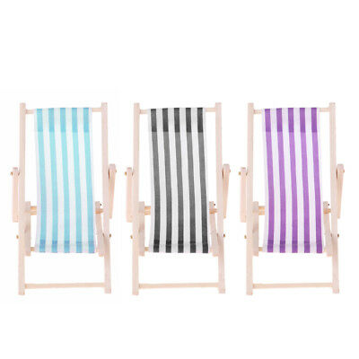 Doll Camping Mini Beach Folding Chair for 1/12 Dollhouse Furniture Accs New