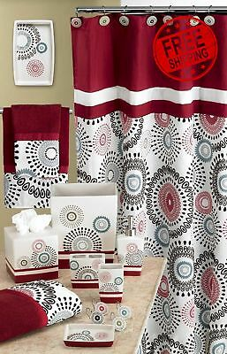 Popular Bath Suzanni Shower Curtains Hooks Burgundy Curtain Modern  Decoration