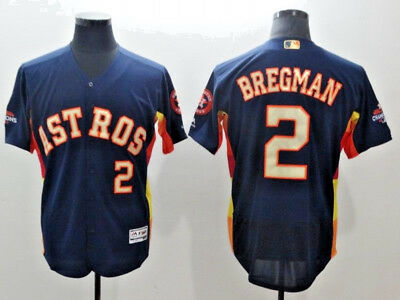 Alex Bregman #2 Houston Astros 2017 World Series Champions Flex Base Jersey(NWT)