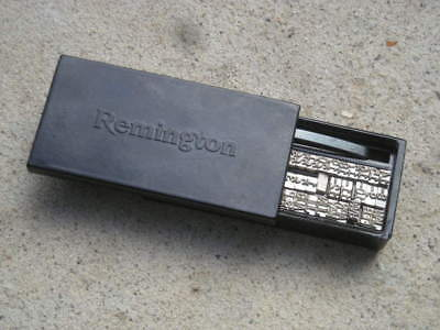 Vintage Set REMINGTON Date Stamps, Month, Numbers, In Case- Hammers? Typewriter?