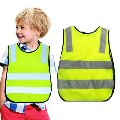 2016 High Viz Childrens Vest Hi Vis Yellow Visibility Waistcoat Childs Jackets