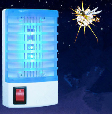 EU LED Socket Electric Mosquito Fly Bug Insect Trap Night Lamp Killer Zapper