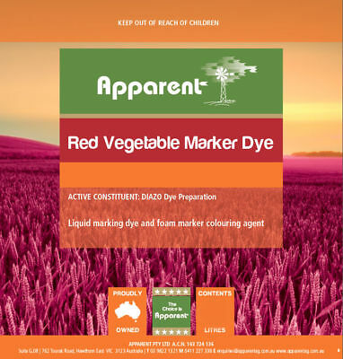 Apparent Red Vegetable Dye Marker Use With Herbicide 1L - 5L