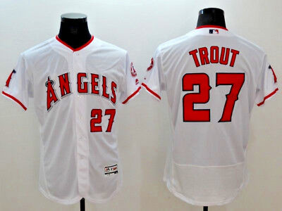 Mike Trout #27 Los Angeles Angels Flex Base MLB Jerseys (NWT)