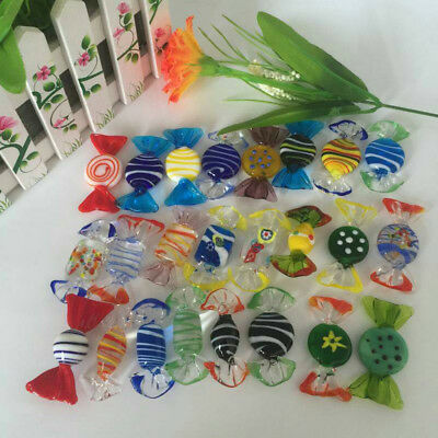 20Pcs Candy Vintage Murano Glass Sweets  Wedding Xmas Party Home Decor