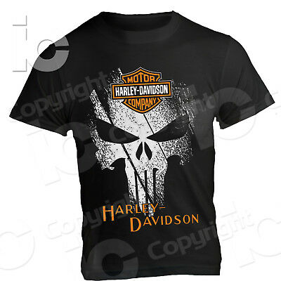T-Shirt Harley Davidson Punisher Custom Legend Usa Streer Road Sport