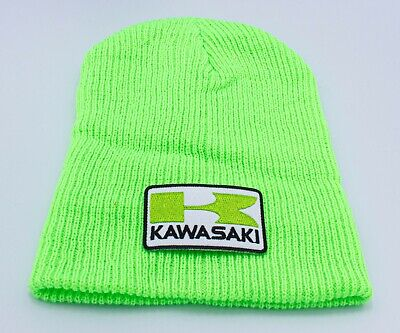 Kawasaki beanie motorbike motorcycle Embroidered Patch