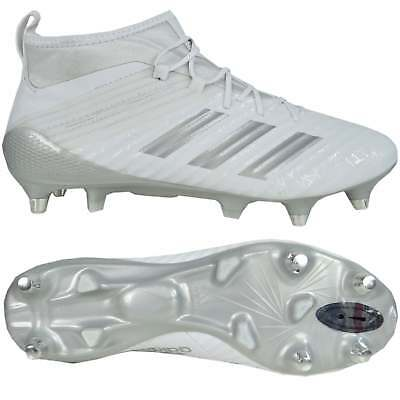 f285d83e537d ... cheap adidas predator flare soft ground rugby boots white and silver  a0475 555e6