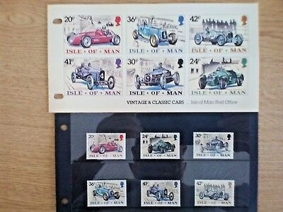 GB...Isle of Man Presentation Pack 1995 Classic Cars ..6 stamps