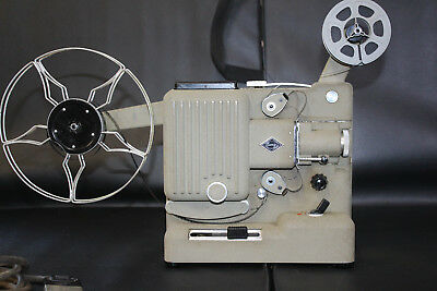 EUMIG P8 STANDARD 8mm SILENT MOVIE PROJECTOR & YASHICA STANDARD 8 EDITOR.