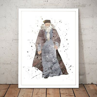 Harry Potter Dumbledore Watercolour Nursery Decor Art Poster Print - A4 to A0