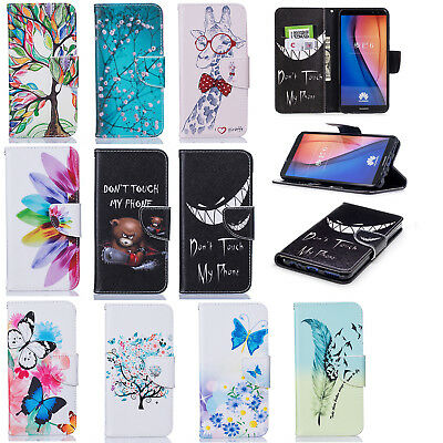 For Huawei Anti-shock Full Protect Card Wallet Phone Case Cover with Kickstand