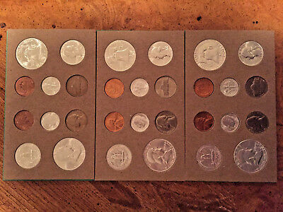 1954 Us Silver Double Mint Set   Rare!!!  Rare!!!!!!!    Very Hard To Find