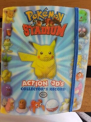Pokemon Stadium Action 3D's Collector's Record COMPLETE Damaged