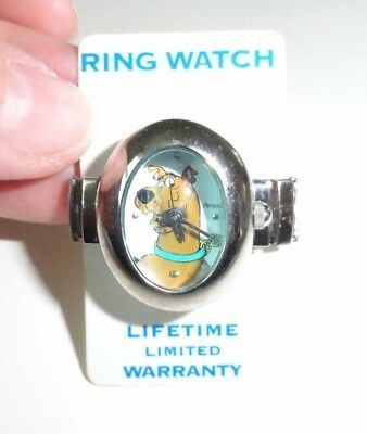Vintage Scooby Doo Ring Watch Stretch Band New Old Stock On Card Armitron Convex