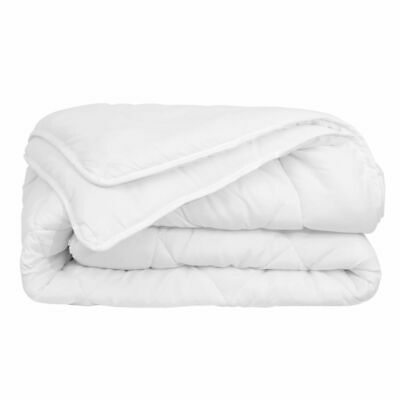 vidaXL 4 Seasons Sleeping Bed Duvet/Quilt with Double Layers Beddding White