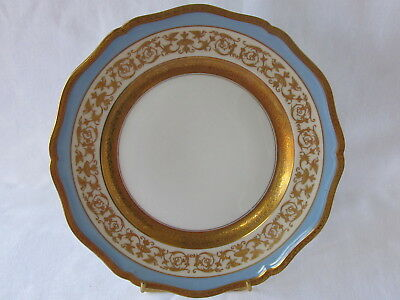 Grande assiette porcelaine Raynaud Limoges incrustation or polie Agate