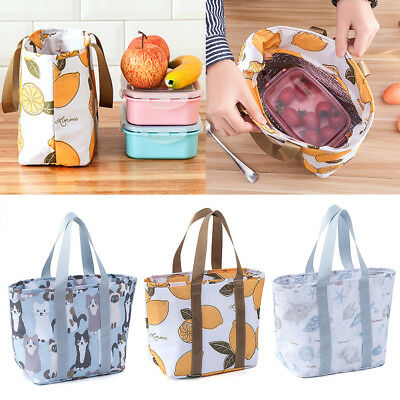 Portable Insulated Thermal Bento Lunch Box Tote Picnic Storage Bag Carry Pouch