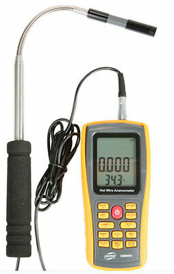 GM8903 Digital Hot Wire Anemometer Wind Speed /Temperature Meter 30m/s 45℃