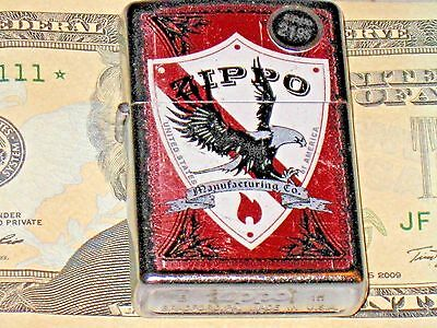 A New Genuine ZIPPO Manufacturing Co of USA Lighter Shield Eagle Flame Windproof