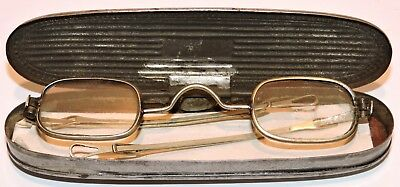 Silver Sliding Temple Spectacles Glasses with Steel Case