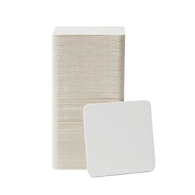 "Cardboard Coasters 100 pack 3.5""x3.5"" Square - White Blank Coasters Bulk Set ..."