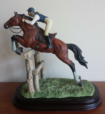 Leonardo Collection Jumping horse and rider (No chips or cracks)