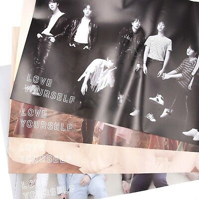 [BTS] Fake Love / Tear / Official FOLDED POSTER / ver.-Y,O,U,R,All