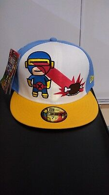 1d219bfe249 MARVEL COMICS TOKIDOKI New Era Hat 59FIFTY Cyclops Fitted Cap Size 7 ...